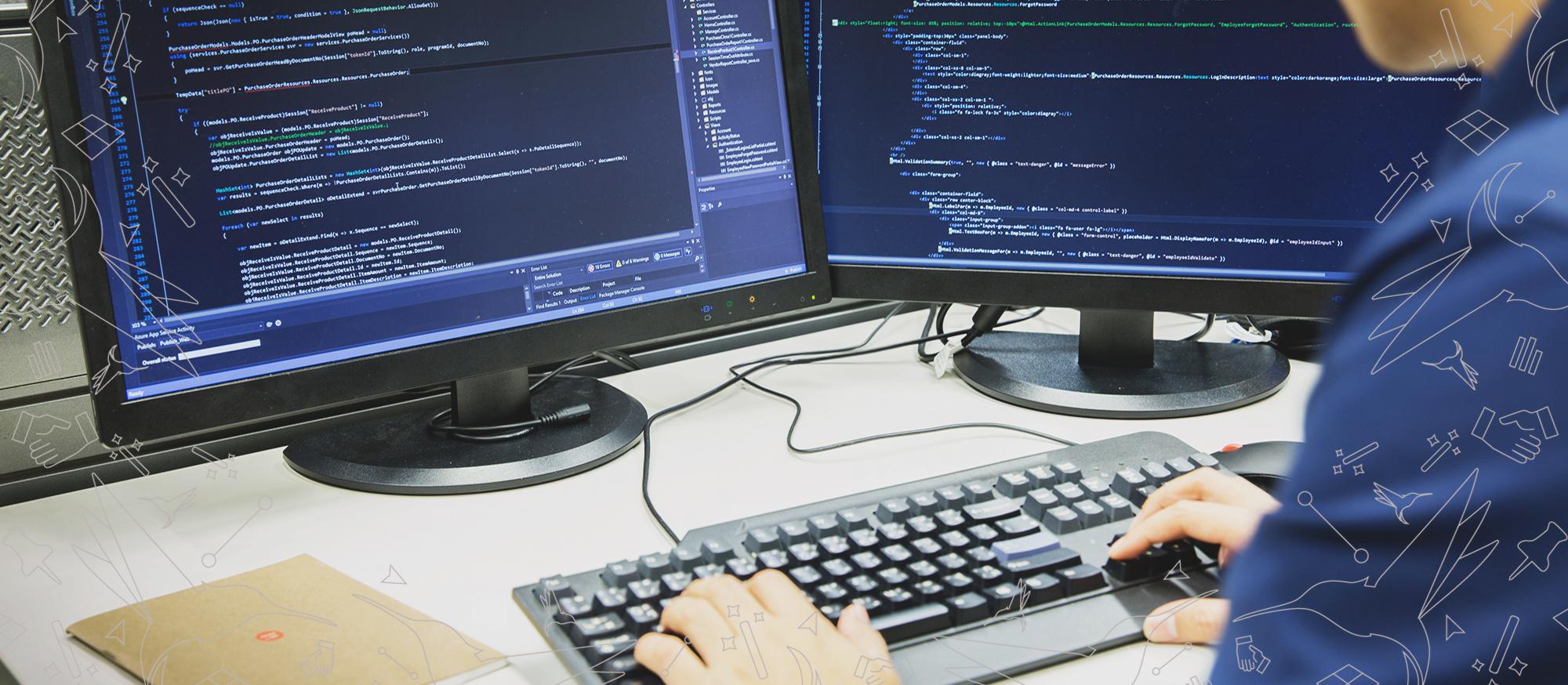 Online Coding Courses - Man doing coding